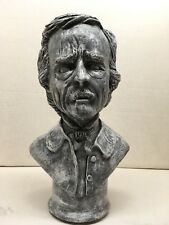 EDGAR ALLEN POE BUST STATUE HAND MADE HORROR ART SCULPTURE