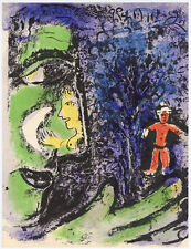 Marc Chagall original lithograph - The Profile and The Red Child