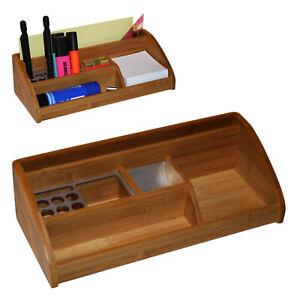 Schreibtisch Organizer Schreibtischständer Stiftehalter Holz 28,5x12,5x8 cm