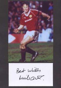 Mike Duxberry - Man Utd - Signed Photo & Index Card - COA (14888)