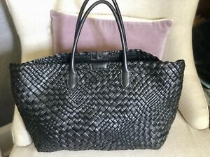 NWT Beautiful FALOR Firenze Hand Woven Leather Made in Italy XL Tote
