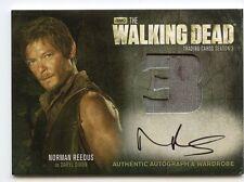 Walking Dead Season 3 Part 2 AUTO/Wardrobe (BLOOD STAIN) AM10 - NORMAN REEDUS
