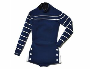 CYNTHIA ROWLEY for GOOP Navy/White Striped Wetsuit