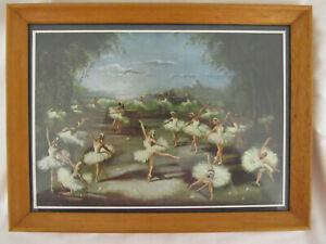 Vintage 1950's Framed Ballet Print 30 x 23cm Ballerina