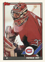 Patrick Roy 1991-92 Topps #413 Montreal Canadiens Hockey Card