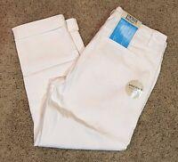 NWT Women's White Vintage America Boyfriend Ankle Grazer Pant Capri Size 6