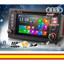 Autorradio Audi A4 S4 RS4 GPS Bluetooth MP3 USB Soporta 3G Camara trasera iPhone