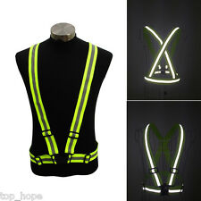 Fluorescen High Visibility Bands Harnes Safety Reflective Vest Strap For Running