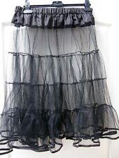 4 Tier Vintage 50s 60s Full Black Net Petticoat Rockabilly Underskirt Rock Roll