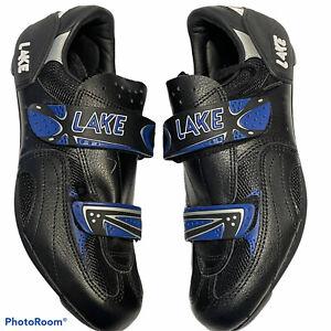 Lake Performance Composite Spd Cycling Bike Shoes Size 42.5 Unisex Black *READ