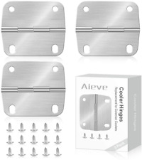 New listing Cooler Hinges Screws Set Replacement Hinges Stainless Steel Coleman Camp