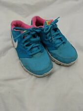 Womens Nike Blue Pink Gym Running Trainers Size 3 #4