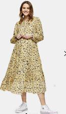 New TOPSHOP MATERNITY YELLOW Daisy Grandad Shirt Dress  Uk 8 Rrp £39