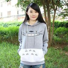 Cute Cartoon Totoro Print Hoodie Sweatshirt Sweater Girls Hooded Coat Pullover