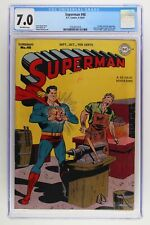 Superman #48 - DC 1947 CGC 7.0 1st Time Travel by Superman. Luthor App!