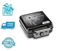 New Unique Star Wars 4 Slice Black Non Stick Waffle Maker For Home Kitchen
