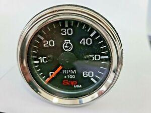 Tachometer Electric 0-6000 RPM, 12/24 Volt 52mm for Trucks Boats Generators NEW