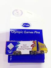 SYDNEY OLYMPIC GAMES 2000 HOST BROADCASTER MEETING TRUCK TRAILER PIN BADGE #457