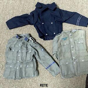 3X 1/6 Scale WW2 German Infantry Jacket Shirt For 12'' Gi Joe Dragon Soldier DID