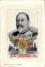 Woven Silk His Majesty King Edward VII by T.Stevens.