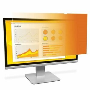 """3M GF215W9B Gold Privacy Filter Gold, Glossy - For 21.5"""" Widescreen Monitor"""