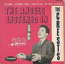 "Doo-Wop The Crests ""The Angels Listened In"" Coed EPC-101 VG w/ Cover VG 1959"