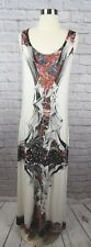 Save the Queen Italy NEW XL Ivory Asian Print Lined Long Maxi Dress