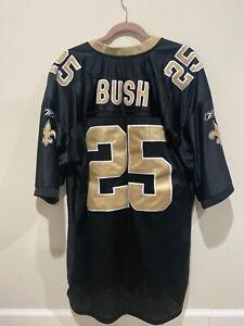 REGGIE BUSH ~ New Orleans Saints Authentic Jersey ~ REEBOK ~ Size 54