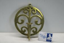 """Virginia Metalcrafters Brass Wall Candle Sconce - 7 1/2"""" diameter"""