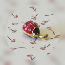 Mumonkan Russian Pendant Egg Lady-Bird Faberge Tradition Enamel Necklace Red