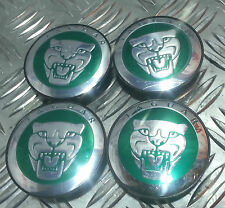 New 4pcsx59MM Wheel Center Caps HUB CAP GREEN For JAGUAR -XJ XJR XJ6 XF X S Type