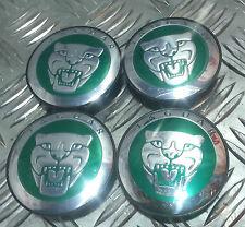 New 4pcsx59MM Wheel Center Caps HUB CAP GREEN For JAGUAR -XJ XJR XJ6 XF X S Type