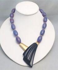 Vintage Trifari Kunio Matsumoto Purple and Lavendar Lucite Necklace