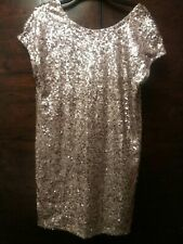 Next Gold Sequin Pull On Party Dress / Christmas / Party NEW  Size 14 BNWT