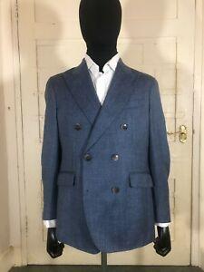 Hackett Mayfair Loro Piana Double Breasted Peaked Lapel Jacket BNWT RRP £750