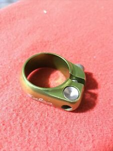 Salsa Lip Lock 32 Seatpost Clamp Collar Green Anodized