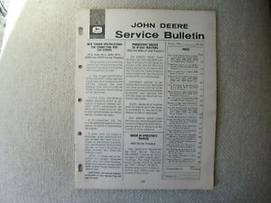 1964 John Deere service bulletin brochure 4020 5010 3020 3010 JD600 tractor