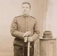 WW1 FRENCH CORP CORP. SWORD ANTIQUE RPPC PHOTO POSTCARD