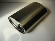"""Stainless Steel Exhaust Silencer Rear Mid Back Oval Box 10W x 5H 16L 2.5"""" Inlet"""