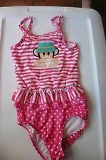 3 3T Paul Frank pink white striped swim suit tankini Dots ruffle VGUC