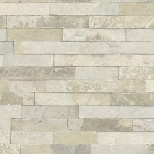 Papier peint feutre USINE 438437 Rasch BRIQUE PIERRE Mur OPTIQUE Gris Beige Brun