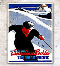 """Vintage Travel Poster Canada 12x16"""" Rare Hot New A75"""