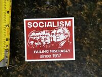 Funny Political sticker Bernie Sanders Democratic SOCIALISM SUCKS 2020 PRO TRUMP