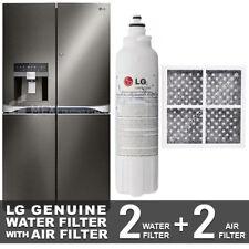 2X LG GENUINE FRIDGE FILTER FOR GF-5D712BSL with 2X LG AIR FILTER LT120F