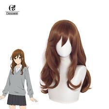 Horimiya Kyouko Hori Cosplay Wig Long Brown Curly Wave Cosplay Wigs Halloween