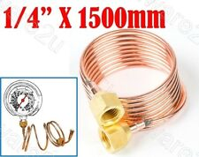 """Capillary Tube  1/4"""" Flare Nut For Connect Gauge Switch Control 150cm (CTN1500)"""