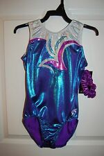 GK Elite Gymnastics Leotard -Child Small - Blue Raspberry