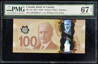 CANADA 100 DOLLARS ND 2011 P 110 POLYMER SUPERB GEM UNC PMG 67 EPQ