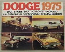 DODGE 1975 CAR RANGE Sales Brochure CANADA    Monaco DART SPORT Coronet CHARGER