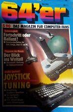 64er (64´er) 05/90 Mai 1990 C 64 Commodore (ST, Amiga, PC, Joystick Tuning)